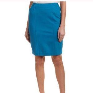 Cabi Sigourney Pencil Skirt Blue Stretch Pockets 2